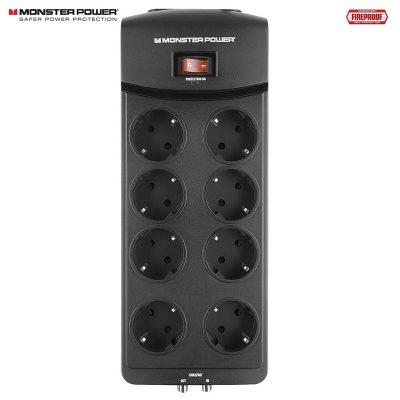 Monster Power 800 AV - DE overspenningsvern for AV utstyr Sort