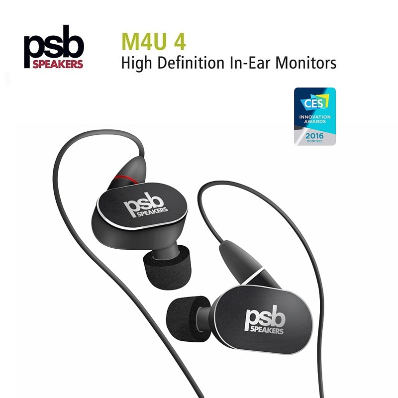 psb M4U-4 In-Ear Headphones Black