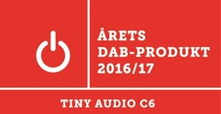 Tiny Audio C6 DAB+ adapter ble årets DAB-produkt 2016/2017.